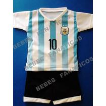 Camiseta De Argentina Para Bebe Mundial 2014 Conjunto Remera