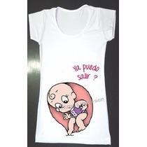 Remeras Futura Mama Ecografía Bebe Embarazada Preciosas Mirá