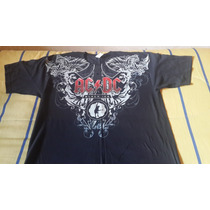 Ac/dc - Remera Made In Mexico - Black Ice Tour