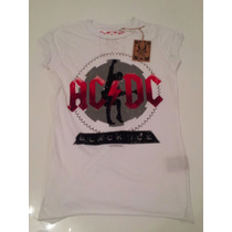 Remera Amplified Vintage Acdc Importada Mujer S Black Ice