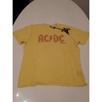 Remera Amplified Acdc Vintage Importada Hombre M Diamante