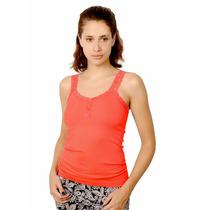 Musculosa Morley Elastizado, Espalda Encaje, Brishka L-0003