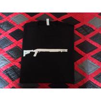 Remera Importada Nueva. Escopeta Calibre 12. Hip Hop / Metal