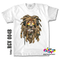 Remeras Reggae Rasta Lions 04 Estampado Digital Stamp