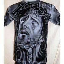 Remera Hombre Jesus - Rockeras - Punk - Metal -reggae