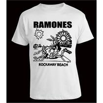 Remera Ramones, Rockaway Beach, Punk Rock, Serigrafía
