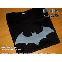 Remeras Mujer Batman Superheroes 100%algodón Oferta Limitada