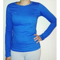Remera Camiseta Mujer Jersey20/1 P Mangas Largas X 6 Unid.