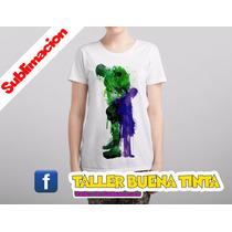 Remera Hulk , Marvel Sublimada Sb Sh