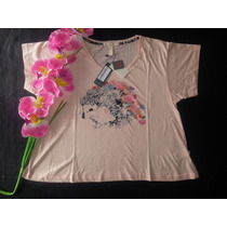 Remera Kosiuko Mod. Treat Estilo Pupera Estampada Sueltita
