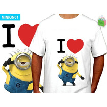 Remeras Despicable Me Minions Adultos Damas Unisex Top Niño