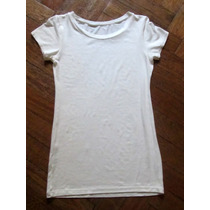Remera Basica Color Blanco Tiza Talle Unico Oferta
