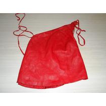 Sarkany Top Cuero Rojo Una Postura Liquidacion
