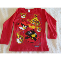 Remeras Angry Birds Manga Larga