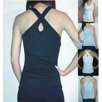 Musculosa Mujer Espalda Cruzada Modal Con Lycra
