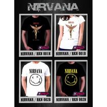 Remeras Rock Niños Juvenil Nirvana Kurt Cobain Digital Stamp