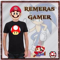 Remeras Estampadas Gamer, Anime, Comic Y Mucho Mas!!!