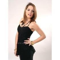 Top Strapless-escote Corazon-bustier-corset Con Faldon-