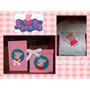 Set De Peppa Pig:remera+caja Para Zapatos+caja Organizadora