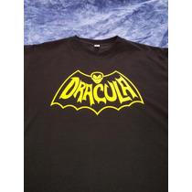 Remera Estampada Dracula Retro, Icono Vintage