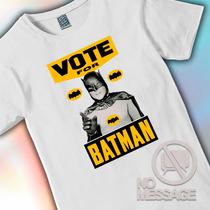 Remera Unisex Estampada Vote Batman Arte Diseño No Message