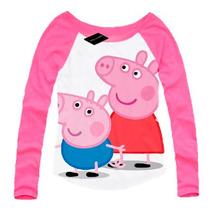 Remeras Peppa Pig Nena Y Nene Ranglas Talles Malatan T4 Al12