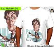 Paul Mccartney Beatles Caricaturas Remeras Leo Molinier