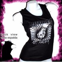 Metallica Heavy Metal Rock Remera Dama Musculosa Oferta
