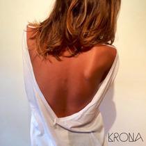 Remera Algodon 100% Pima Peruano Blanco Negro By Krona