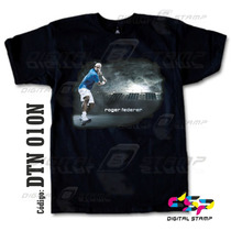 Remeras Tennis Roger Federer Tenis 10 Estampado Digital