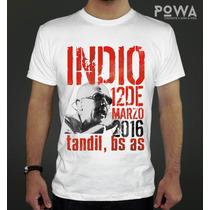 Remera Indio Tandil 2016 Estampada 100% Algodón Premium