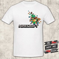Remeras Videojuegos  Minecraft Sega Mortal  de Hoy No Pasa 