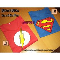 Remeras Mujer Comics Superheroes Batman Superman Flash Joker