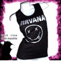 Nirvana Smile Punk Rock Remera Dama Musculosa Oferta