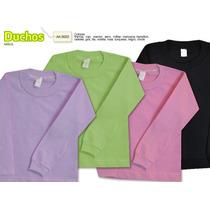 Remera Niño M/larga Color Lisa T 4-6-8-10-12-14. 15 Colores