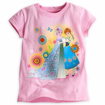 Remera Frozen Fever Disney Store - Con Brillitos