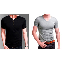 Remeras Entalladas Slim Fit Para Hombres X Mayor (min 20u.)