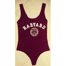 Body Mujer Modal Harvard Estampa Sexy