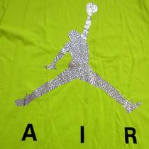 Remera Nike Jordan L Fluo Plateado - Originale Traída De Usa