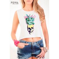 Top Powa 100% Algodón Con Estampa Calavera Skull
