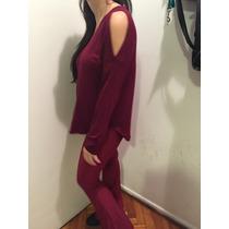Blusa Remera Modal Con Hombros Al Aire Abiertos 2 Colores