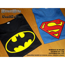 Remeras Mujer Comics Superheroes Batman Superman Flash Joker