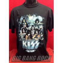 Remera Kiss Talle L - Large (52 Cm X 72 Cm) Big Bang Rock