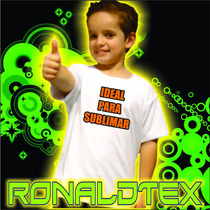 Remeras De Niños Modal C/ Lycra Ideal P/sublimar Cuello Reeb