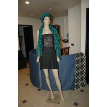 System Vestido De Lino Color Negro Con Detalle De Cinta T 3