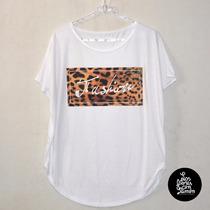 Remeron* Fashion* Animal Print* Amplio, Largo* Spun* Dama *