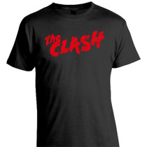 Remera The Clash Estampado En Flock (felpa) - Punk Rock