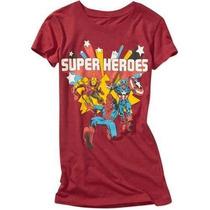 Remera Marvel Super Heroes Talles M L Importada Nuevas!