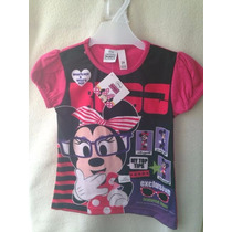 Remera Nena Minnie Violetta Pepa Monster High Barbie Y Mas