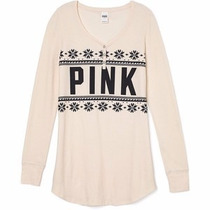 Buzo Remera Manga Larga Pink Victoria Secret Original